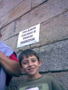 Foto 9. Na manifestación de Queremos Galego 18, 10, 2009 (1)
