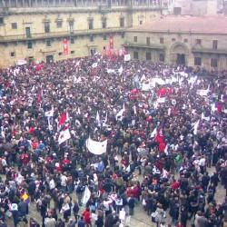 Foto 2. Manifestación Queremos Galego 21, xaneiro, 2009 (2)